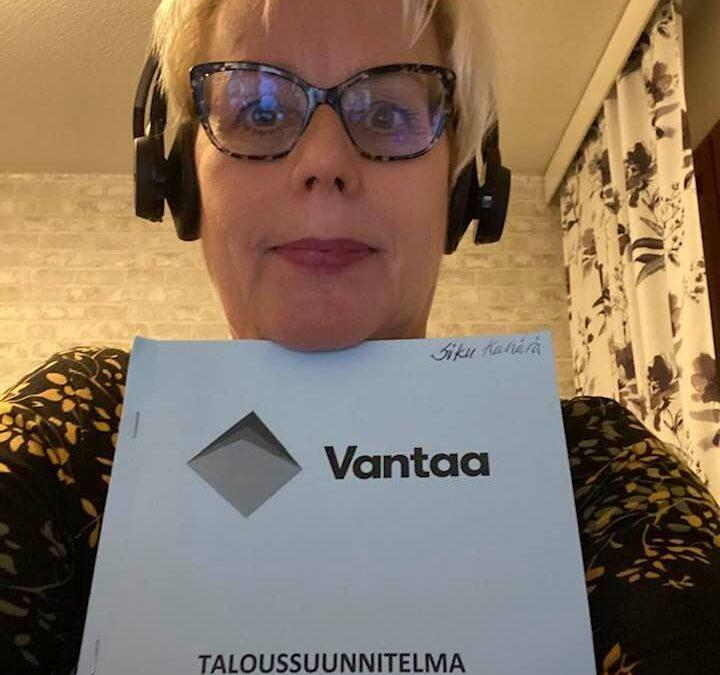 Vantaan kaupunginvaltuuston talousarviokokouksessa 16.11.2020