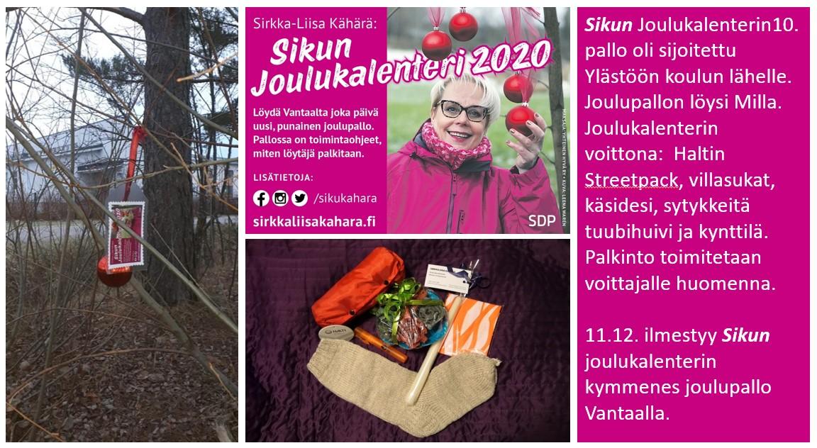 """Sirkka-Liisa """"Siku"""" Kähärän joulukalenteri 2020 tuottaa iloa!"""