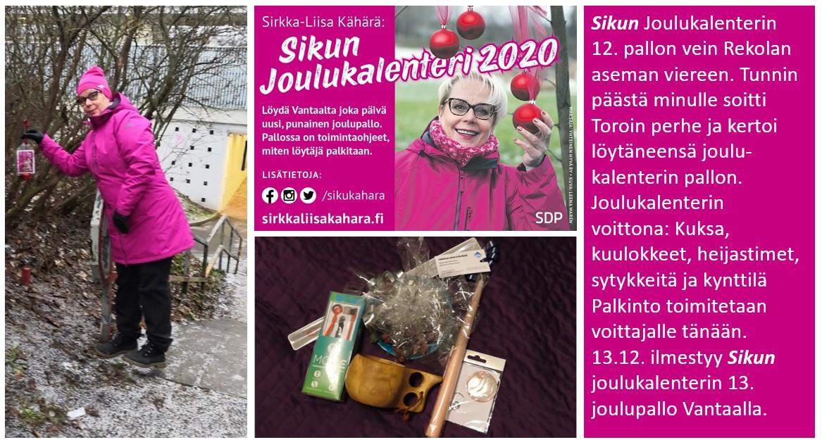 """Sirkka-Liisa """"Siku"""" Kähärän joulukalenteri tuottaa mielihyvää!"""