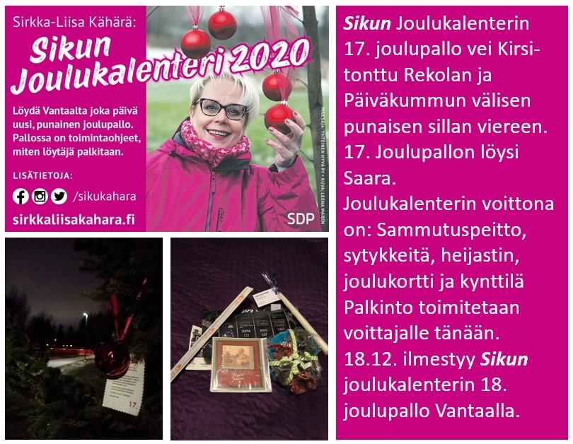 """Sirkka-Liisa """"Siku"""" Kähärän joulukalenterin pallot tuottaa iloa!"""