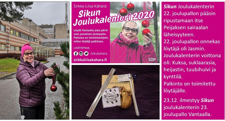 """Sirkka-Liisa """"Siku"""" Kähärän joulukalenterissa loppusuora häämöttää!"""