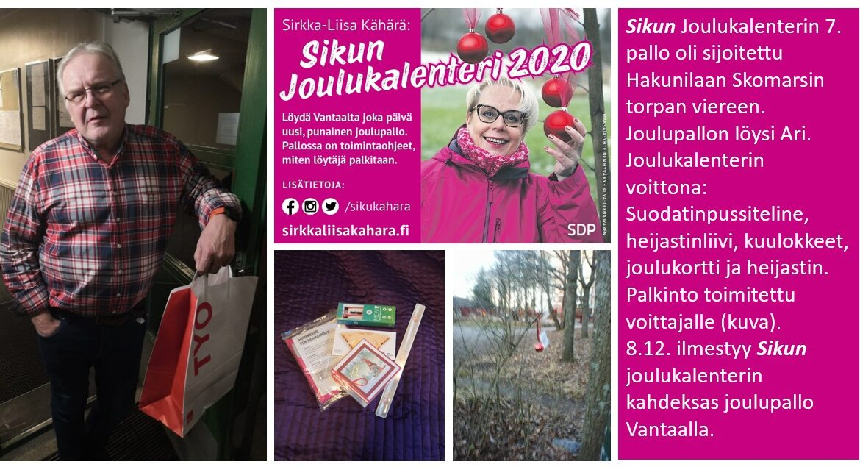 """Sirkka-Liisa """"Siku"""" Kähärän joulukalenterista iloa Vantaalle"""