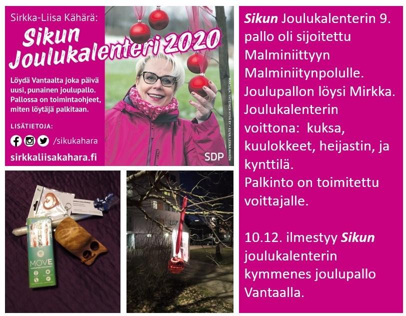 """Sirkka-Liisa """"Siku"""" Kähärän joulukalenterin palloja löytyy aina uusi 24.12 saakka"""